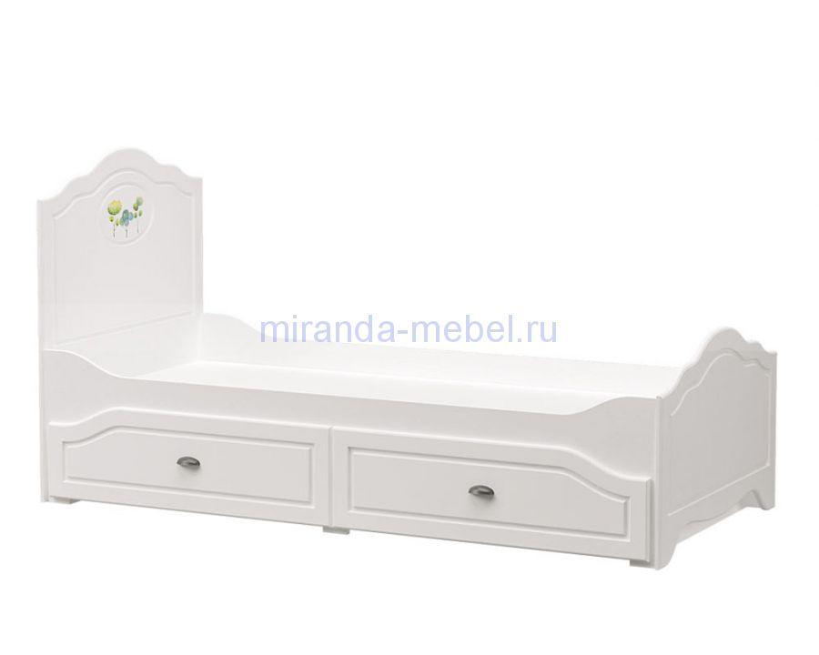 Роуз кровать с ящиками 90*200