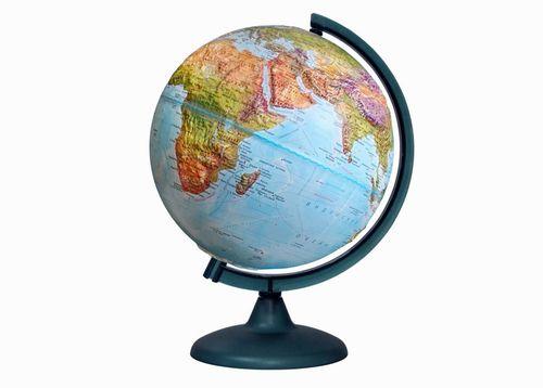 Глобус «Двойная карта» рельефный диаметром 250 мм, с подсветкой