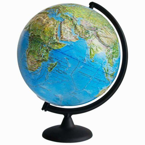 Глобус Земли ландшафтный рельефный, диаметр 320 мм
