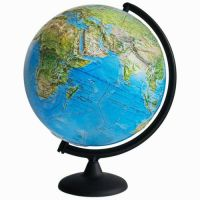 Глобус Земли ландшафтный рельефный, диаметр 320 мм - фото