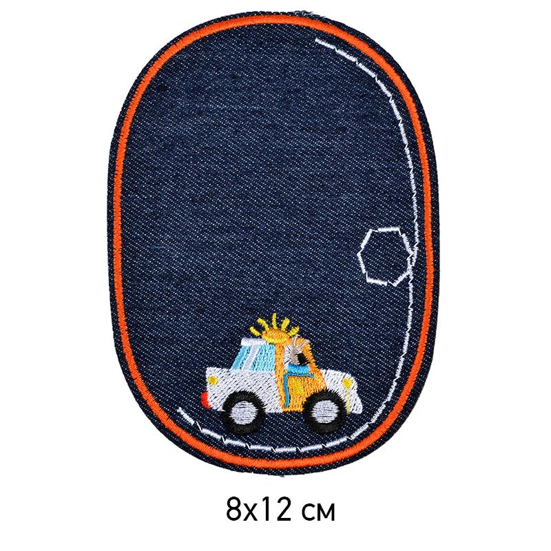 Заплатка термоклеевая детская овальная джинсовая TEP.RO.08