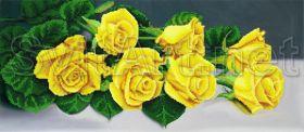 Svit Art A-128a Семь Желтых Роз схема для вышивки бисером купить оптом в магазине Золотая Игла