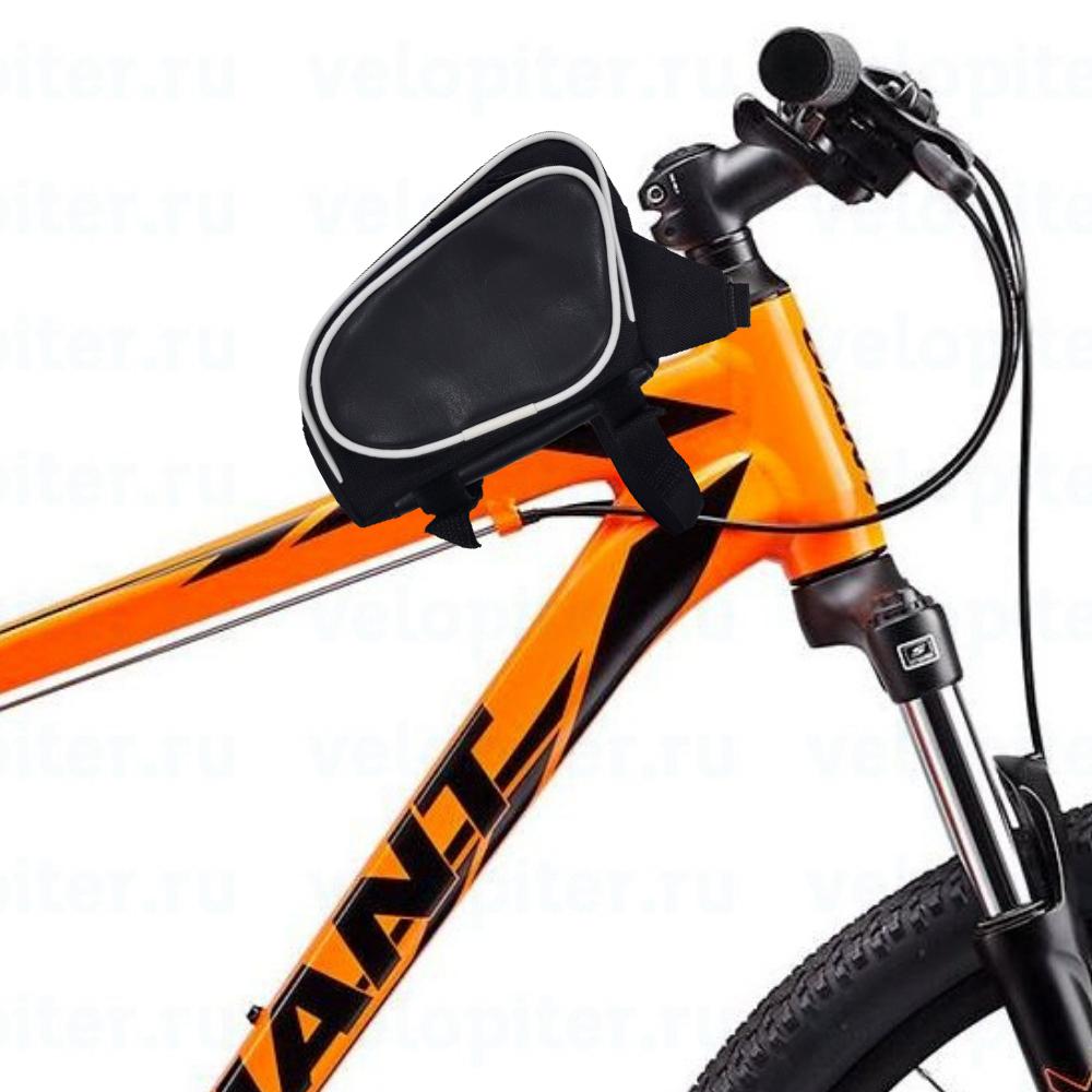 Велосумка AcoolA на раму с тремя отделениями