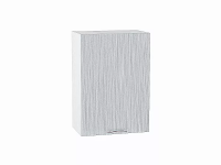 Шкаф верхний с 1-ой дверцей Валерия В500 в цвете серый металлик дождь