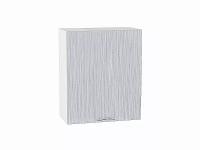 Шкаф верхний с 1-ой дверцей Валерия В600-Ф46 в цвете серый металлик дождь