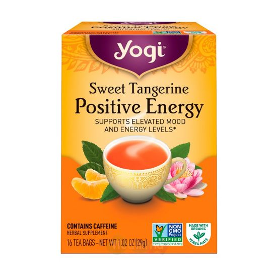 Yogi Tea Хорошее Настроение со Вкусом Сладкого Мандарина Positive Energy, 16 пакетиков