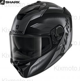 Шлем Shark Spartan GT Elgen, Черный матовый с серым