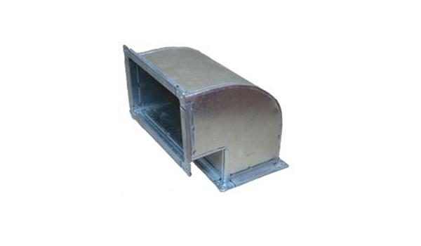 Отвод прямоугольный 90 100х100 (0,5)
