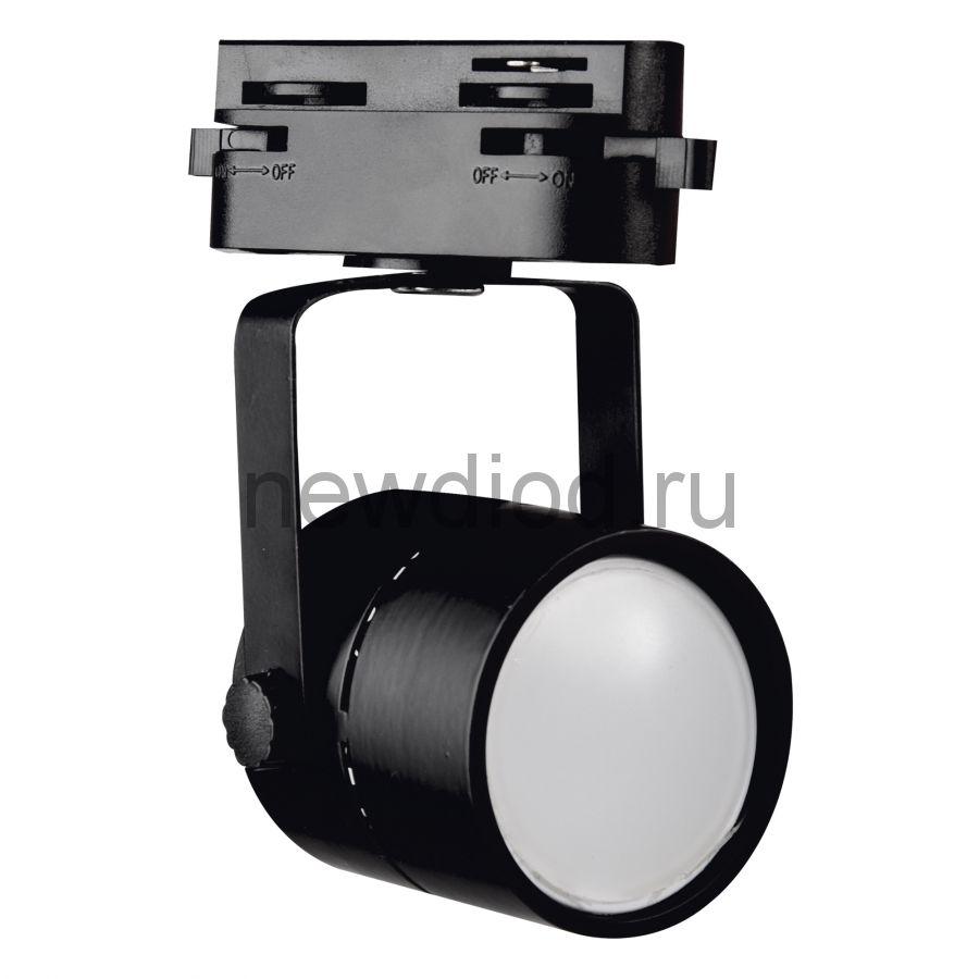 Трековый светильник-прожектор под лампу с цоколем GU10 IP40 220 V 50 Hz UBL-Q321 GU10 BLACK ТМ Volpe