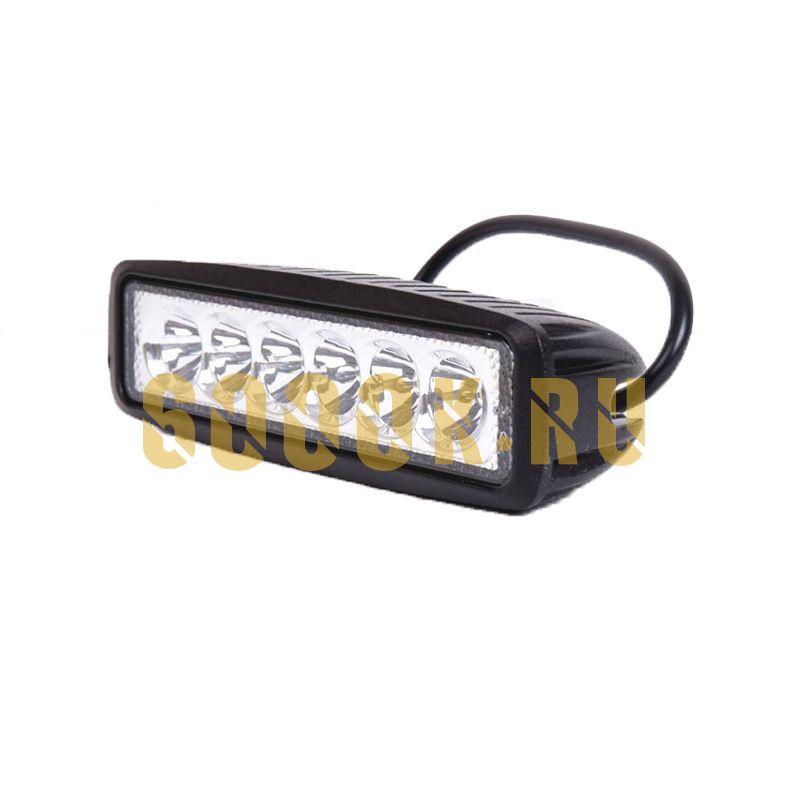 Тонкая LED фара 18 Ватт PRO дальнего света 6 диодов прямоугольная