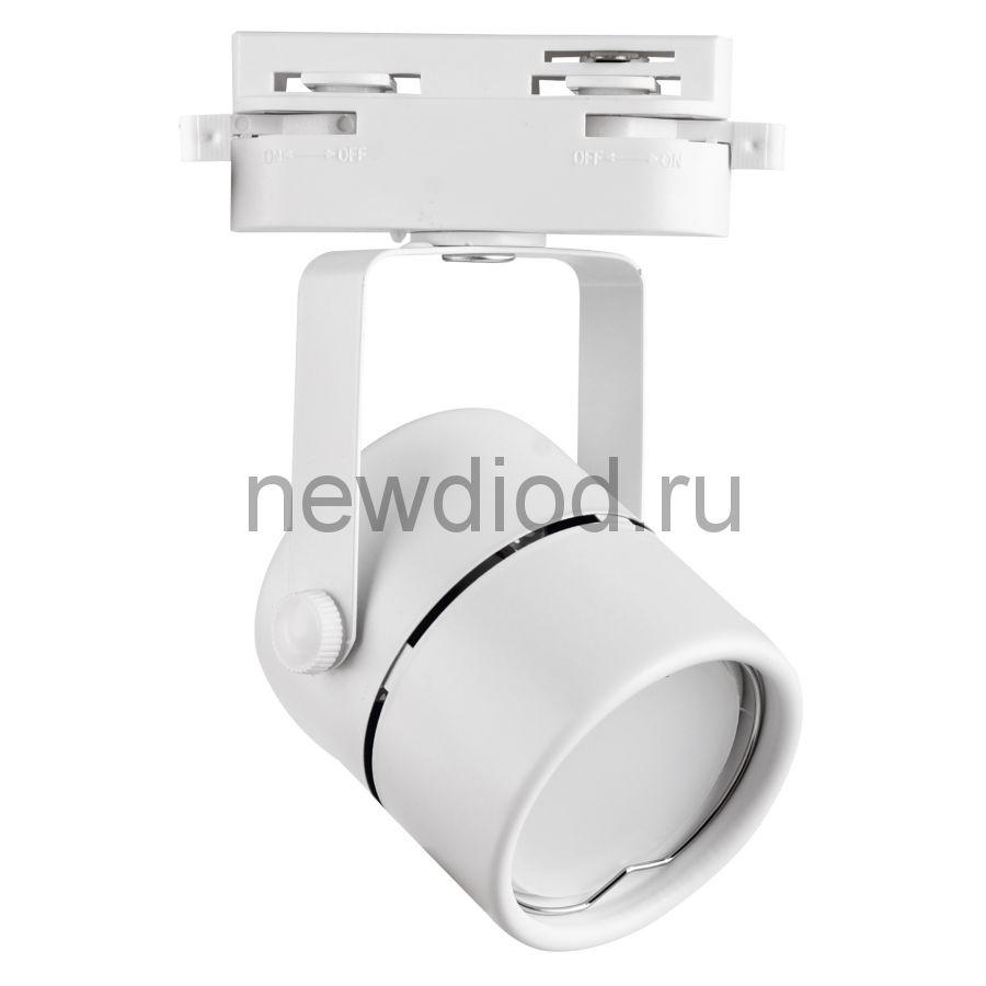 Трековый светильник-прожектор под лампу с цоколем GU10 IP40 220 V 50 Hz UBL-Q321 GU10 WHITE ТМ Volpe
