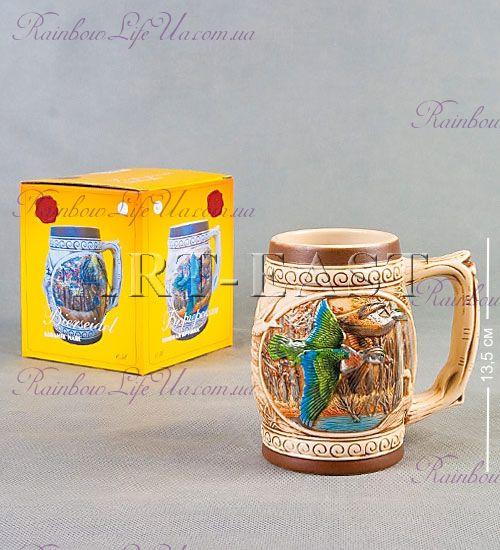 """Кружка пивная бюргерская 550 мл """"Утка"""""""