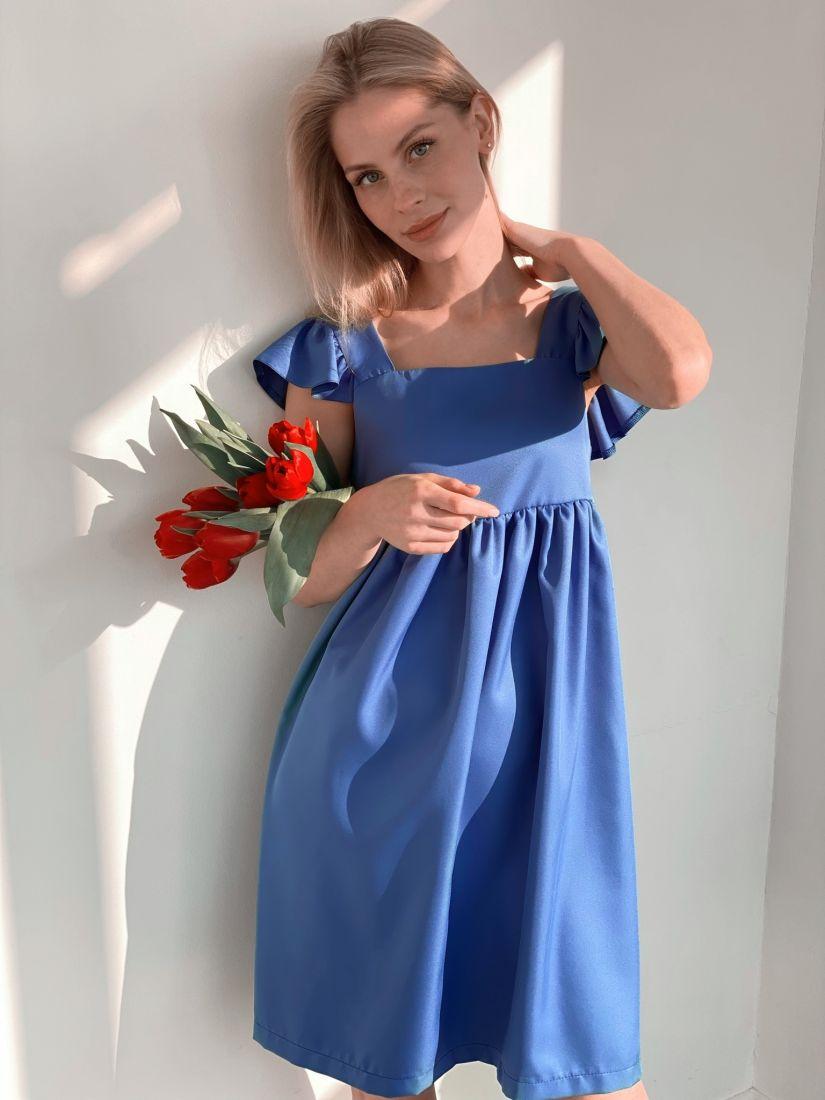 s3899 Платье в стиле babydoll в цвете cornflower