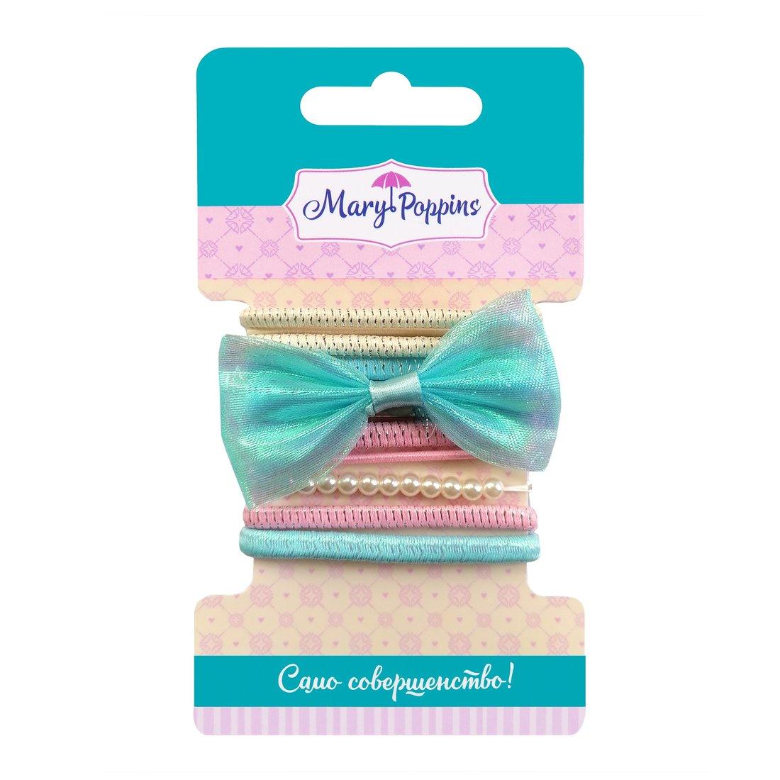 Набор резинок для волос  Нежность  голуб., 6,5*3,5 см., 11 шт.