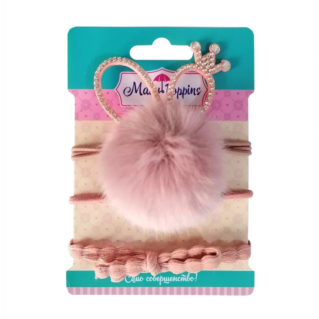 Набор резинок для волос  Зайка  3 шт., 4*6,5см., роз.