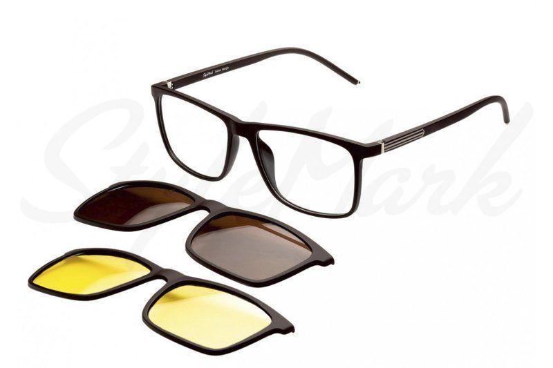 Оправа с солнцезащитной насадкой (Clip-on) StyleMark Polarized C2707B