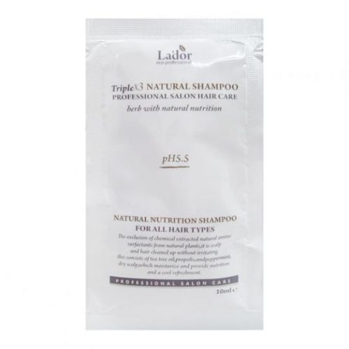 817949 La'dor Шампунь с эфирными маслами Triplex Natural Shampoo [POUCH] 10ml