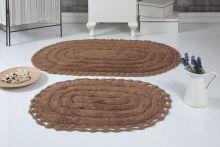 Комплект ковриков для ванной YANA 60x100 + 50x70 (горчичный) Арт.5026-7