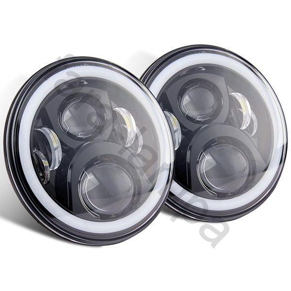 Штатные светодиодные фары Нива УАЗ (черные)