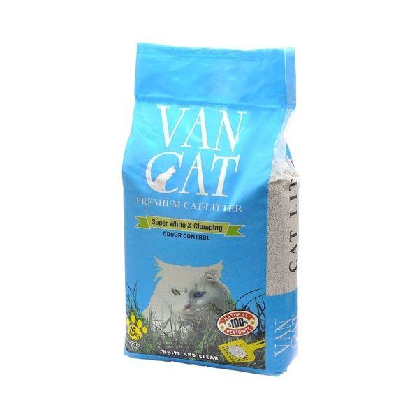 """Комкующийся наполнитель Van Cat  """"100% натуральный"""", без пыли (пакет) 15кг"""