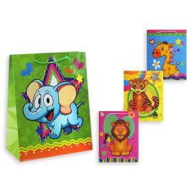"""Пакет подарочный бумажный """"Забавные животные"""", 26х32х10 см (арт. S 8384)"""
