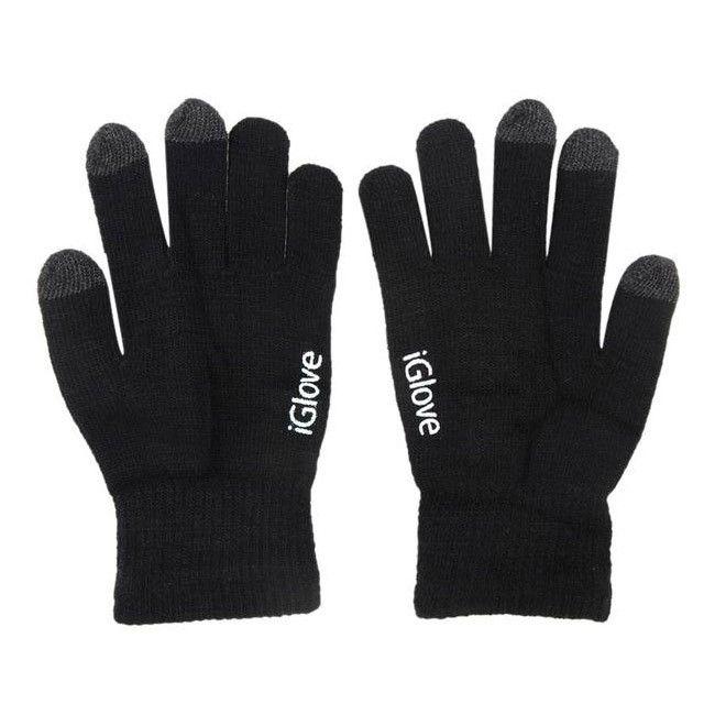 Перчатки iGlove для работы с сенсорными и емкостными экранами, цвет черный