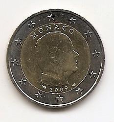 Князь Монако Альберт II (регулярный выпуск) 2 евро Монако 2009