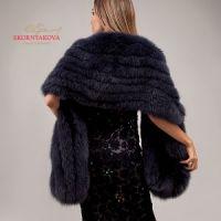 Меховой палантин на вечернее платье от бренда Скорнякова купить фото