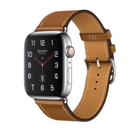 Apple Watch Hermes Stainless Steel Series 4 40mm GPS + Cellular Fauve Barenia Leather Single Tour