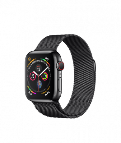 Apple Watch Series 4 GPS + Cellular 40mm Stainless Steel Black Milanese Loop