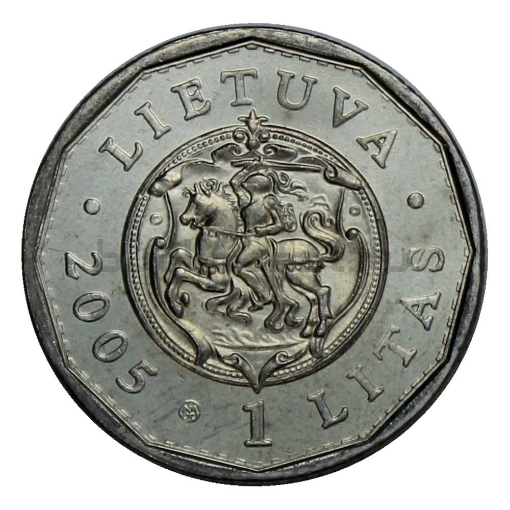 1 лит 2005 Литва Королевский дворец Дучи
