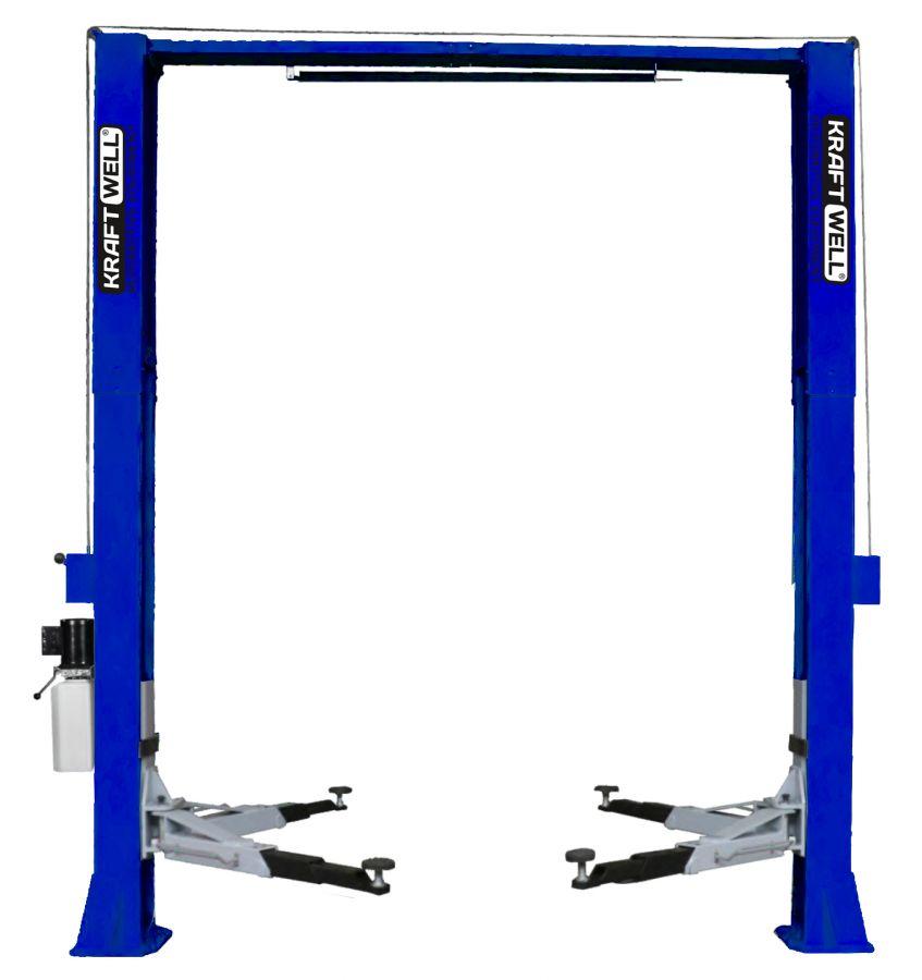 KraftWell KRW5.5MUXL_blue Подъемник двухстоечный г/п 5500 кг. электрогидравлический