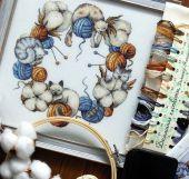 """Схема для вышивания крестиком """"Домашние хлопкоты"""". Отшив."""