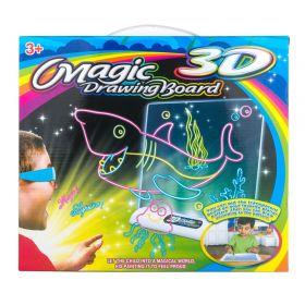 Электронная доска для рисования 3D Magic Drowing Board Морской стиль с подсветкой и 3D эффектом