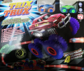 Машинки Trix Trux светящиеся с двумя машинками