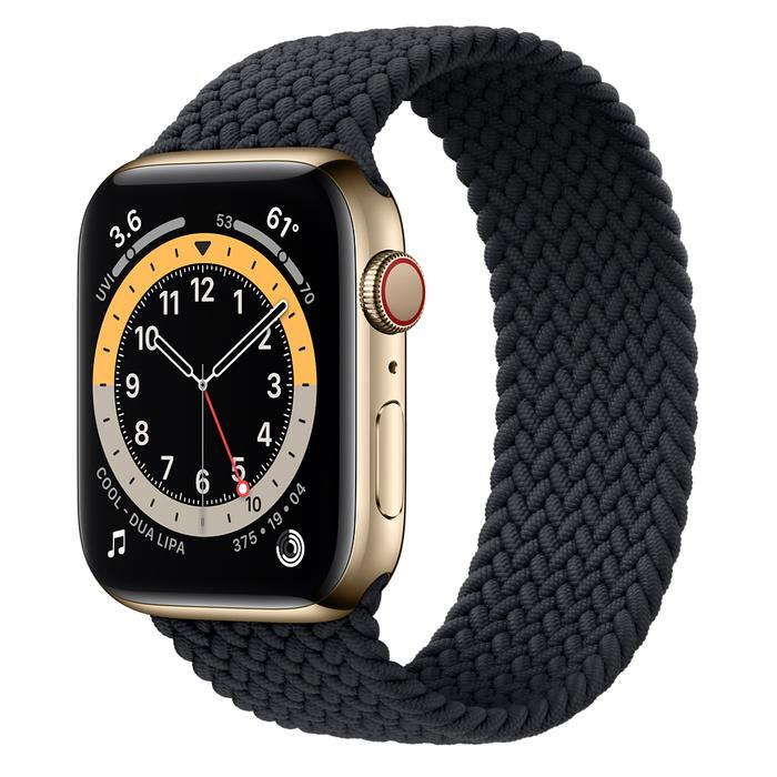 Ремешок Apple Watch Series 6 Charcoal Braided Solo Loop (для корпуса 44 мм)