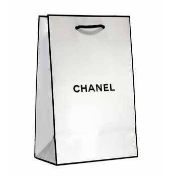 Подарочные пакет Chanel белый 23*14,5 см