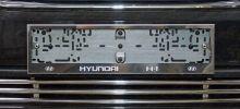 Рамки номерного знака, ТСС, c логотипом, нерж. сталь