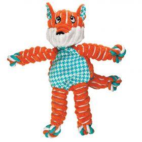 KONG игрушка для собак Floppy Knots Лиса малая 24х15 см