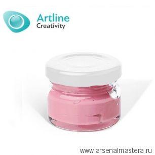 Пигментная паста для эпоксидной смолы 10 гр серо - розовая Pigment Paste Artline PST-00-010-SRS