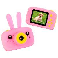 Детский цифровой фотоаппарат Зайчик, Розовый