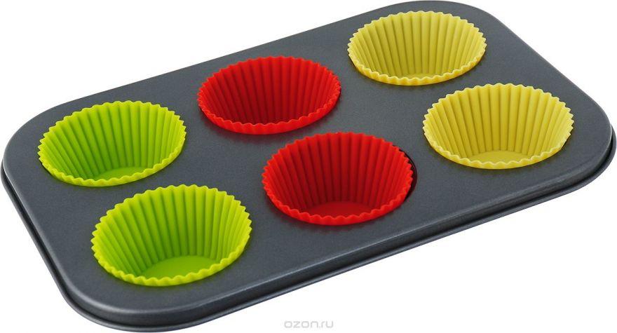 Формы для кексов на металлическом каркасе (6шт)