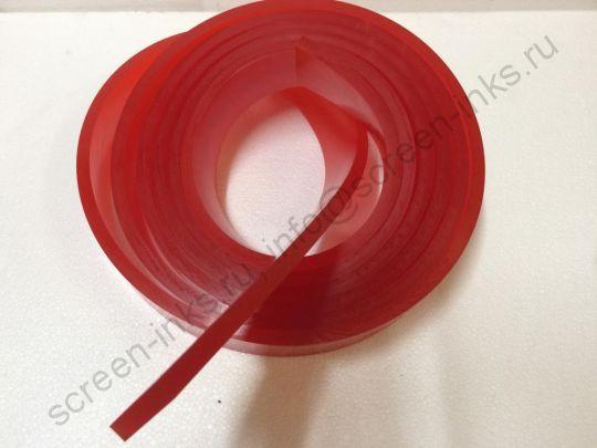 Ракельное полотно LM-PRINT SX-A (красное) 65Sh. 9x50 mm., 1 м. пог