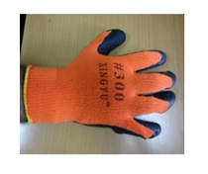 Перчатки ТОРРО-ЗИМА трикотаж. с прорезиненным наладонником оранж. (№ 7 Х)