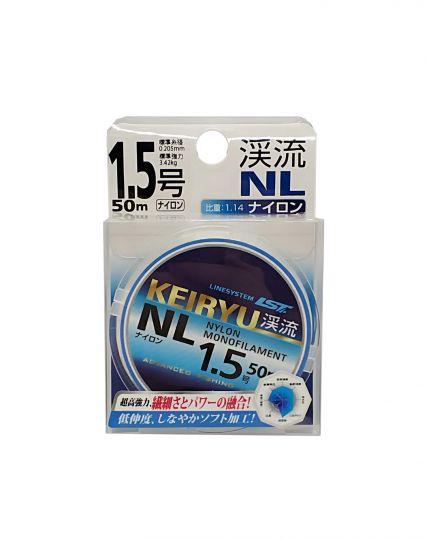 Леска LINESYSTEM KEIRYU NL 50m #1,5 (0,205mm)(3.42кг)