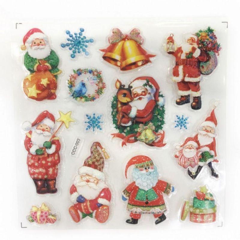 Новогодние наклейки на окна Room Decor, 26х21 см, рисунок Санта Клаус