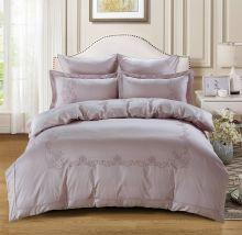 Комплект постельного белья  Сатин вышивка  VALENCIA евро   Арт.5125/4