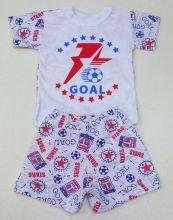 "Костюм: футболка 2 кн. шорты kA-KS069(2)-SUk (супрем, goal) код товара 01270 ""Мамин Малыш"" | Вид спереди"