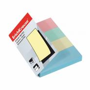 Закладки бумажные с клеевым краем ErichKrause®, 25х75 мм, 200 листов, 4 цвета (арт. 7325)