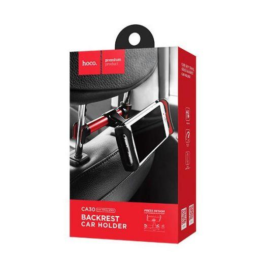Автомобильный держатель на спинку сиденья HOCO CA30 Easy travel series, черно-красный